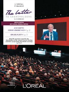 """Cover - """"Letter to shareholders - N°73 - Summer 2019"""""""