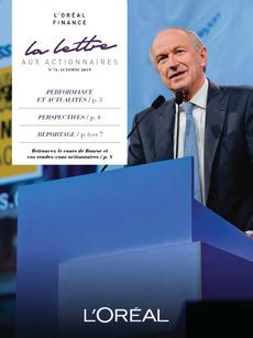 """Couverture - """"La lettre aux actionnaires - N°74 - Automne 2019"""""""