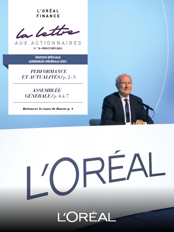 """Couverture - """"La lettre aux actionnaires - N°78 - Printemps 2021"""""""